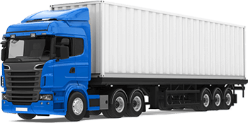 Semi Truck with Fleet Dash Cam